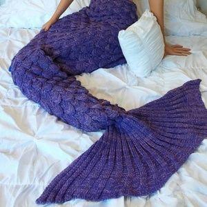 Etsy- Crocheted Mermaid Tail Blanket